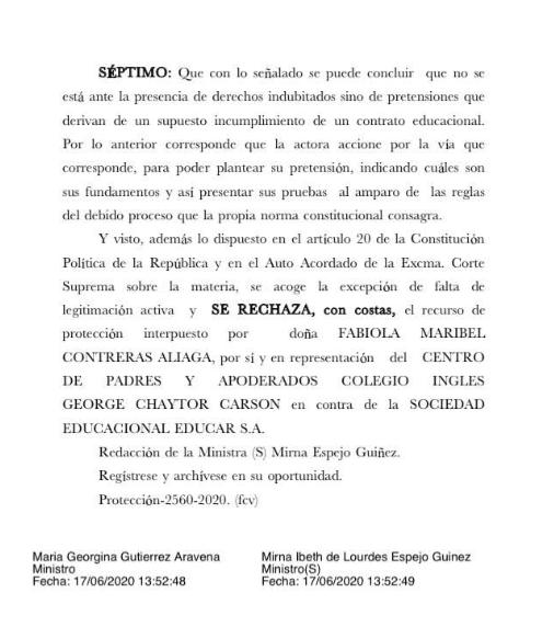 Resolución de Corte de Apelaciones.