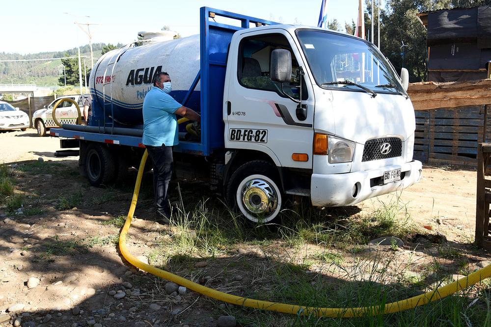 Agua potable en asentamientos de Temuco.