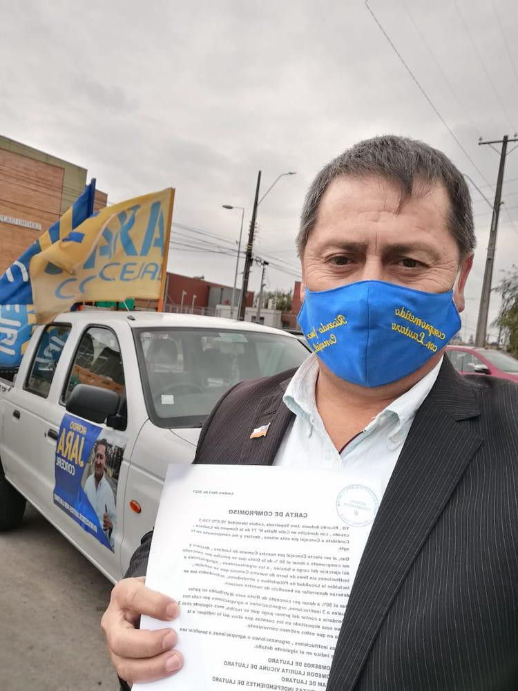 Candidato Ricardo Jara por Lautaro