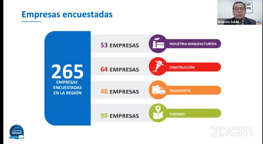 Empresas encuestadas en La Araucanía.