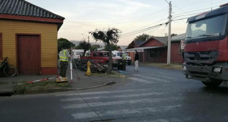 Accidente de tránsito en Purén.