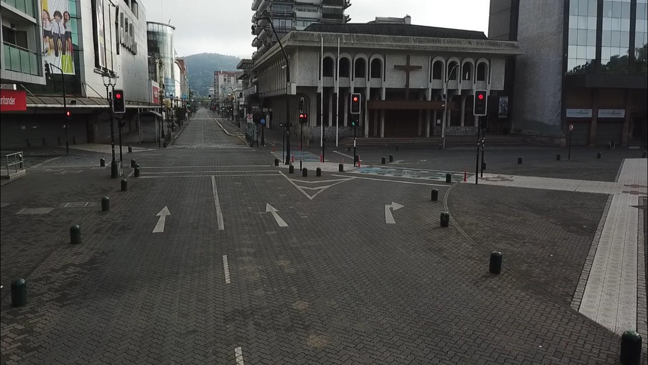 Calles de Temuco Vacías.