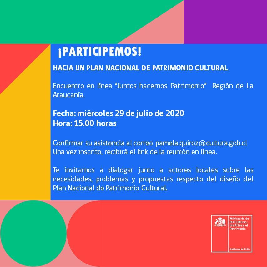 Plan Nacional de Patrimonio Cultural.