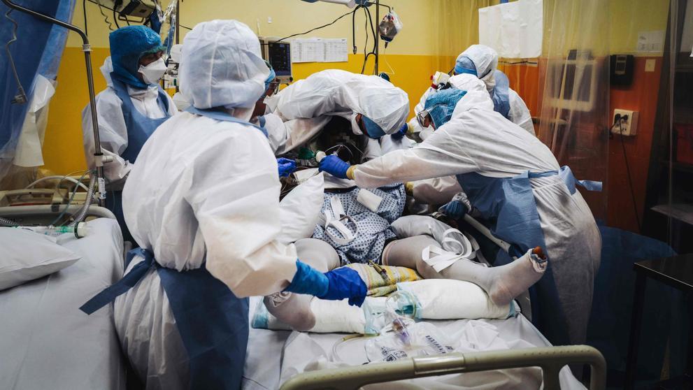 Pacientes covid hospitalizados.
