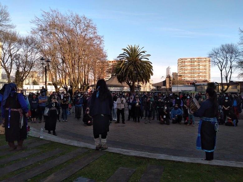 Concentración en Plaza Dagoberto Godoy.