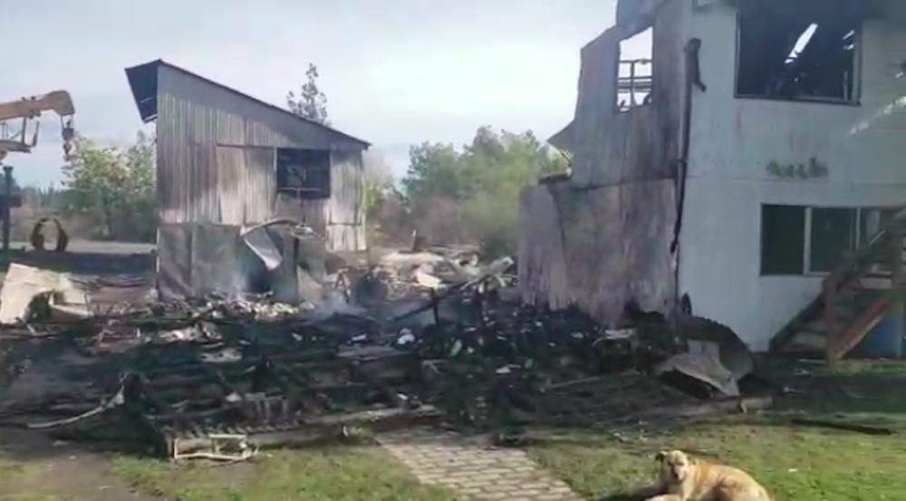 Oficinas quemadas en atentado 5/08/2020 Maquehue