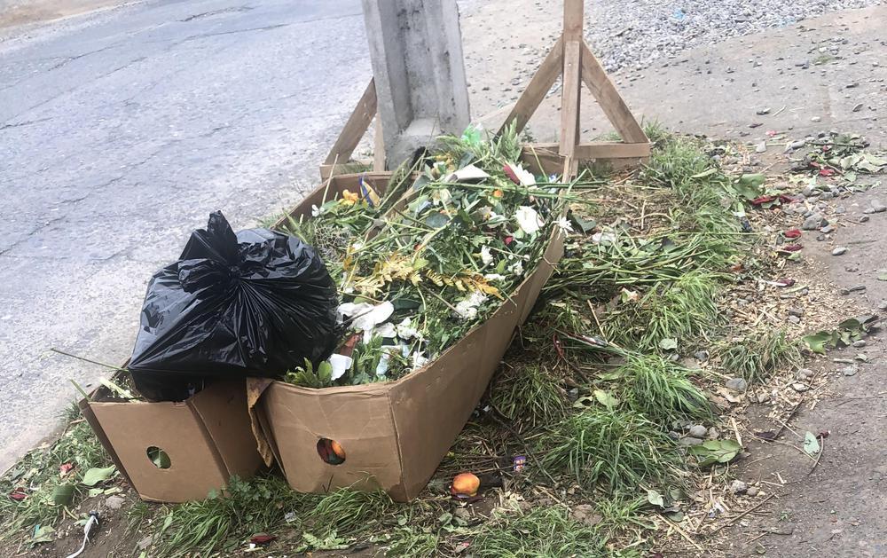 Desechos de florerías.