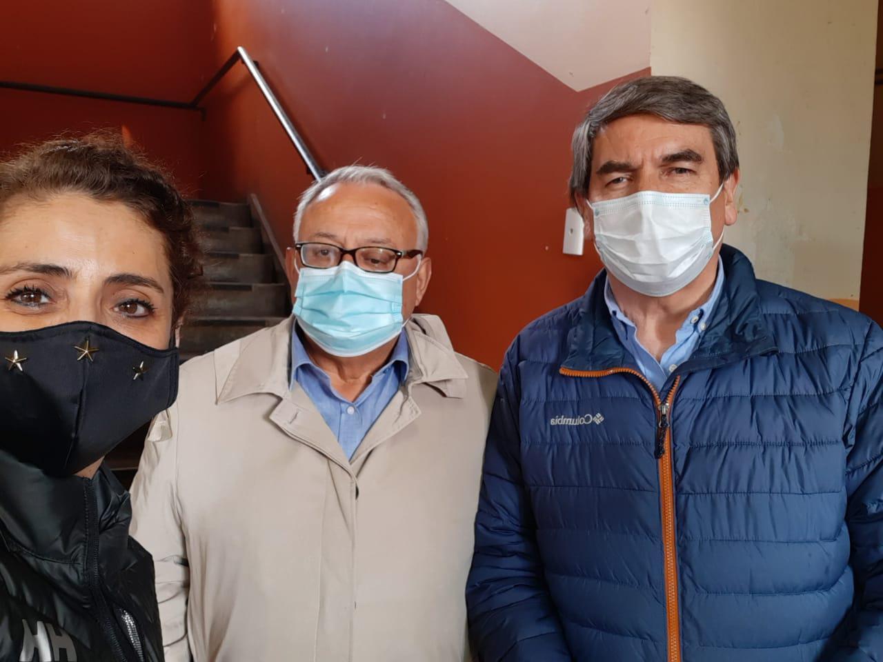 Leslie Gandulfo, Fredy Rivas y Mario Jorquera